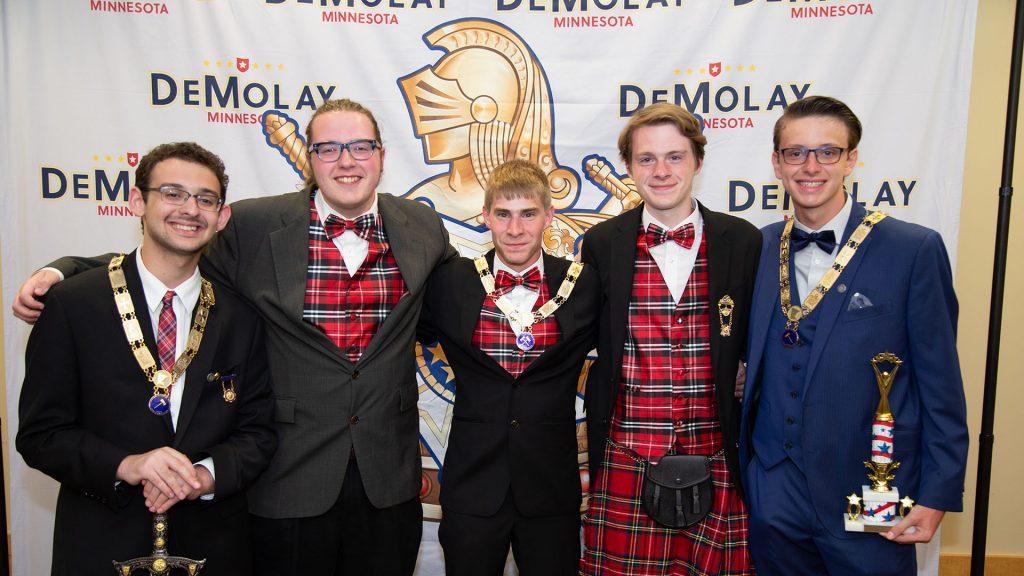 Photo of Minnesota DeMolay youth leaders